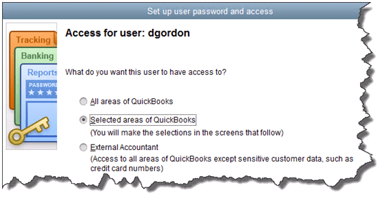 Setting up user access in QB Picture1