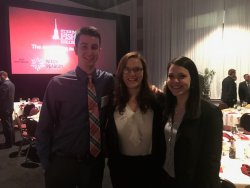 Connor Slattery, Lauren Sutorius and Mackenzie Myers, future EFPR Group employees in the Fall