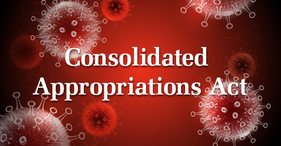 """red background with white text """"Consolidated Appropriates Act"""""""