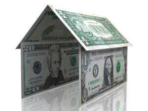3d Dollar House Isolated Over A White Background