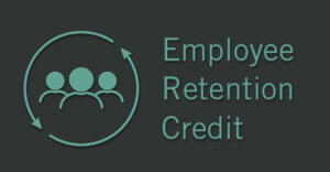 """people icon with the words """"employee retention credit"""" next to it"""